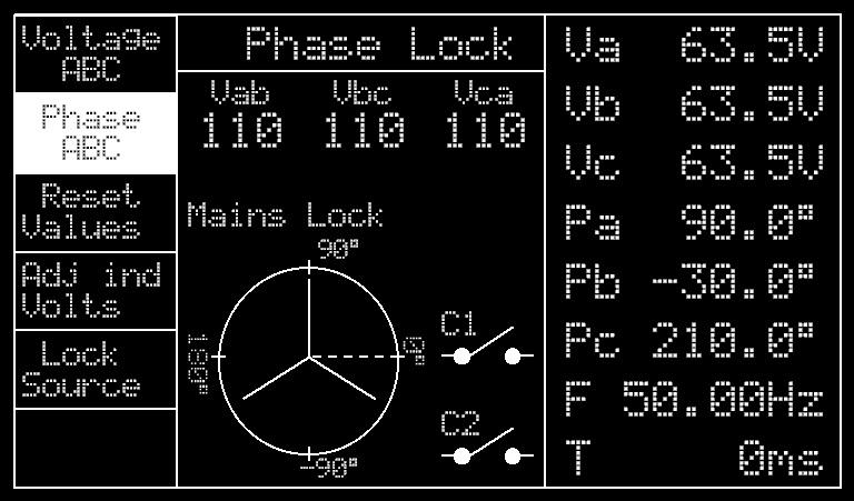 Ecran du testeur de relais DVS3